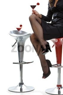 Woman holding cocktail