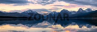 Lake McDonald in Glacier National Park at sunset