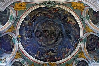 GemŠlde in der Rotunde der Stiftskirche St. Gallus und Otmar