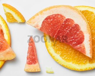 Grapefruit and orange pattern