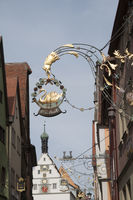 historic inn signs in Rothenburg/Tauber, Germany