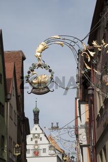 historischer Haeuser in Rothenburg ob der Tauber