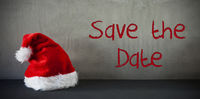 Santa Hat, Text Save The Date