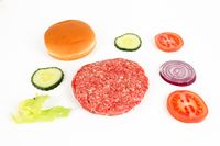 ingredients for a hamburger
