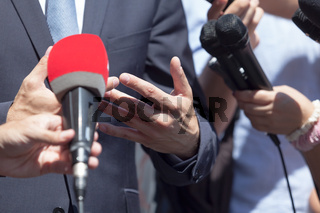 Media or press interview