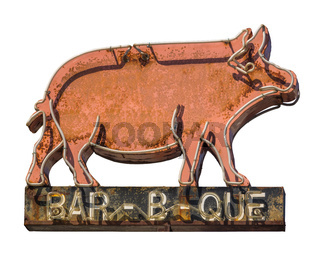 Rustic Barbecue Diner Sign