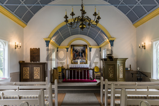 Interior Hreppholakirkja Church