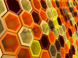 network of hexagons