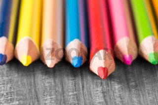 Colored pencils - very shallow DOF