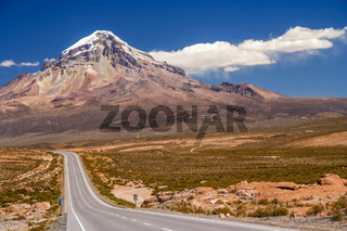 Road to Nevado Sajama