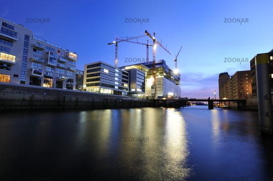 Hamburg, Germany, Hafencity with Elbphilharmonie