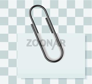 Paper clip vector illustration