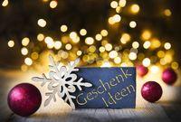 Christmas Background, Lights, Geschenk Ideen Means Gift Idea