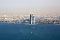 Dubai Burj Al Arab Hotel Meer Luftaufnahme Luftbild