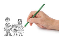 Hand drawing happy family (my picture)