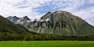Panoramic view of the mountains near Andalsnes in Norway