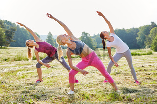 Gruppe Frauen macht Aerobic Training