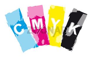Abstrakt CMYK Farbfächer