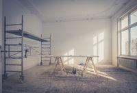 home renovation - room during renovation - restoration
