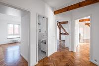 penthouse flat after renovation - empty flat hallway