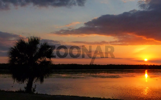 Sunset at Sanibel island, Florida