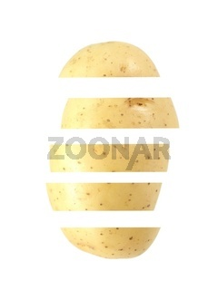 A potato isolated against a white background