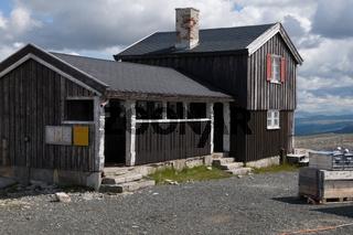 Berghütte am Snohetta im Dovrefjell, Norwegen