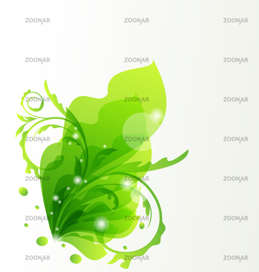 Nature transparent floral background, design elements