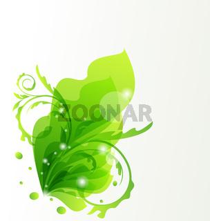 Nature transparent floral background, design elements