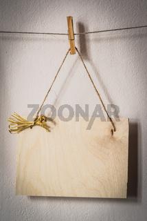 Balnk wooden board