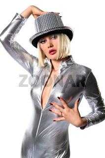 Sensual disco girl