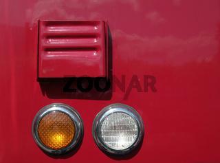 Leuchteneinheit an historischem FW-Fahrzeug
