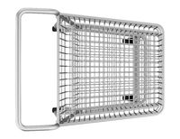 top view of empty shopping cart isolated on white background. 3d illustration