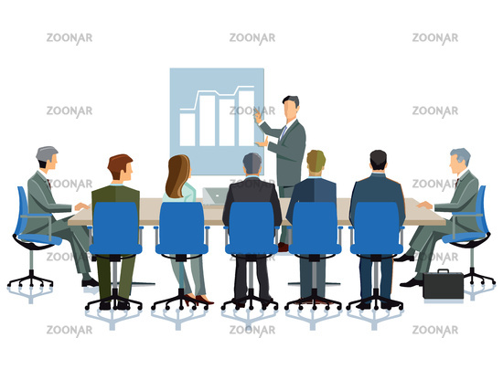Business meeting in the company