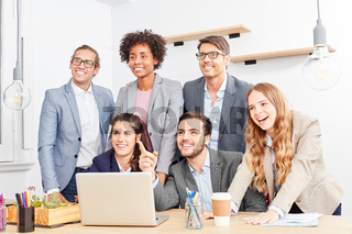 Kreatives Business Start-Up Team hat eine Vision