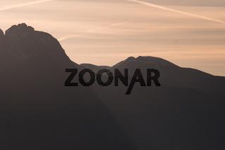 Südtiroler Berge Sonnenaufgang