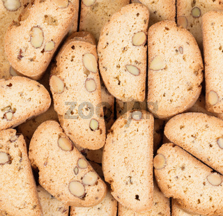 Filled frame of baked cookies for food background
