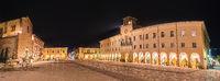 night view of small Italian town
