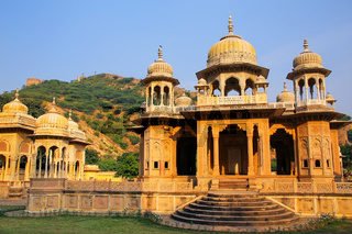 Royal cenotaphs in Jaipur, Rajasthan, India