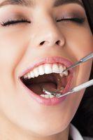 Dentist patient at exam