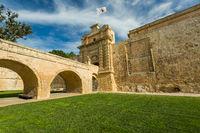 City gate entrance in Mdina,Malta