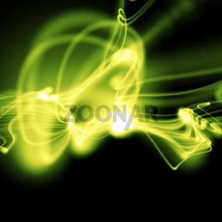 bright green wavy smooth neon background