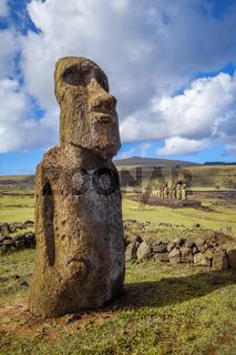 Moai statue, ahu Tongariki, easter island