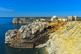 Festung Fortaleza de Beliche, Cabo de Sao Vicente, Sagres, Algarve, Portugal
