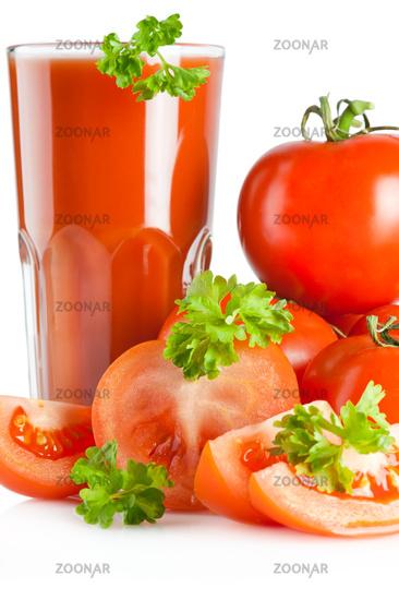 Tomato juice and parsley
