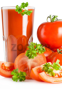 Tomato juice and parsley