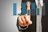 Analyse von Finanzen auf Touchscreen