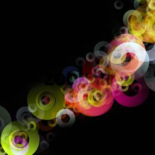 Fantastic elegant circle background design illustration
