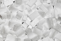 white styrofoam pellets