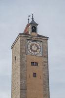 historic tower gate in Rothenburg ob der Tauber, Germany